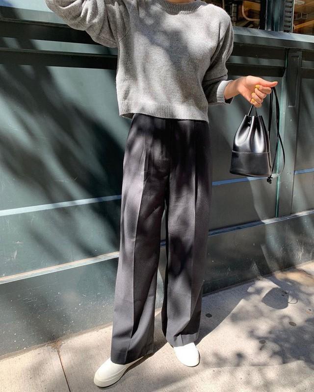 """Diện với áo gì cũng """"auto"""" đẹp lại hô biến chân thon dài, quần ống suông chính là item bạn nên tích cực diện - Ảnh 13."""