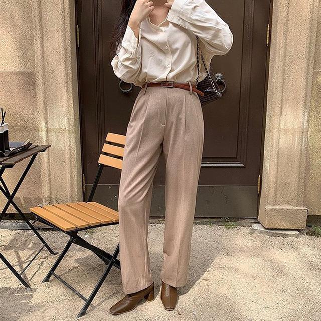 """Diện với áo gì cũng """"auto"""" đẹp lại hô biến chân thon dài, quần ống suông chính là item bạn nên tích cực diện - Ảnh 9."""