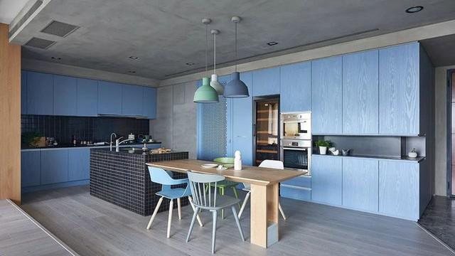 Căn hộ màu xanh đậm có cách sắp đặt nội thất khoa học tuyệt vời - Ảnh 12.