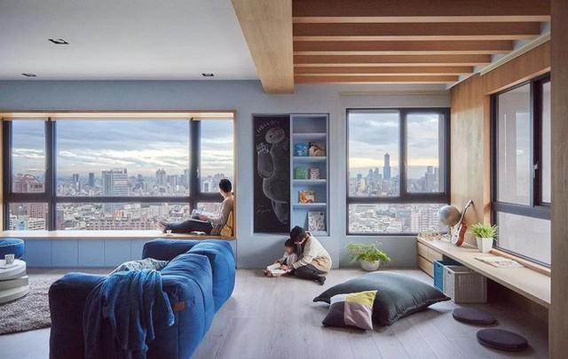 Căn hộ màu xanh đậm có cách sắp đặt nội thất khoa học tuyệt vời - Ảnh 4.