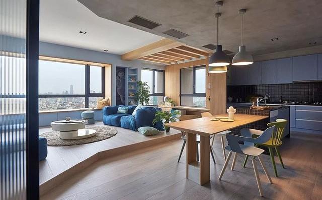Căn hộ màu xanh đậm có cách sắp đặt nội thất khoa học tuyệt vời - Ảnh 6.