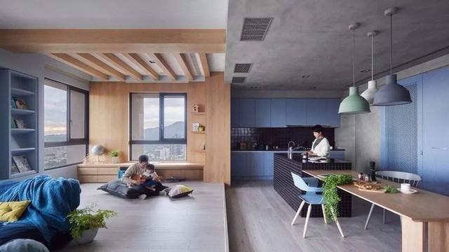 Căn hộ màu xanh đậm có cách sắp đặt nội thất khoa học tuyệt vời - Ảnh 7.