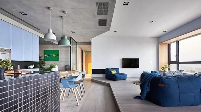 Căn hộ màu xanh đậm có cách sắp đặt nội thất khoa học tuyệt vời - Ảnh 8.