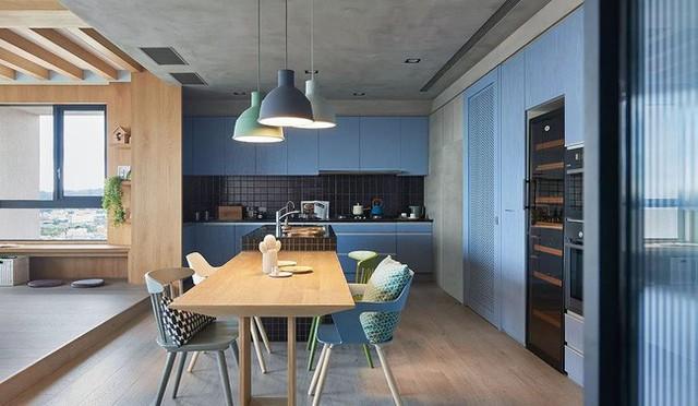 Căn hộ màu xanh đậm có cách sắp đặt nội thất khoa học tuyệt vời - Ảnh 9.