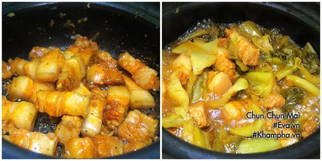 Thịt ba chỉ kho dưa cải chua khiến cơm nấu bao nhiêu cũng hết  - Ảnh 4.