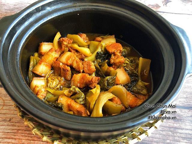 Thịt ba chỉ kho dưa cải chua khiến cơm nấu bao nhiêu cũng hết  - Ảnh 5.