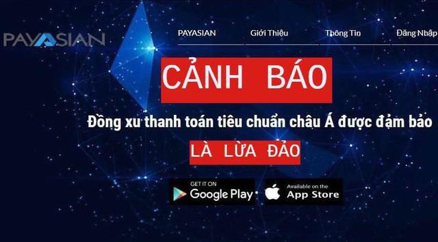 Công an Hà Nội cảnh báo chiêu lừa đảo từ ví điện tử Payasian - Ảnh 1.