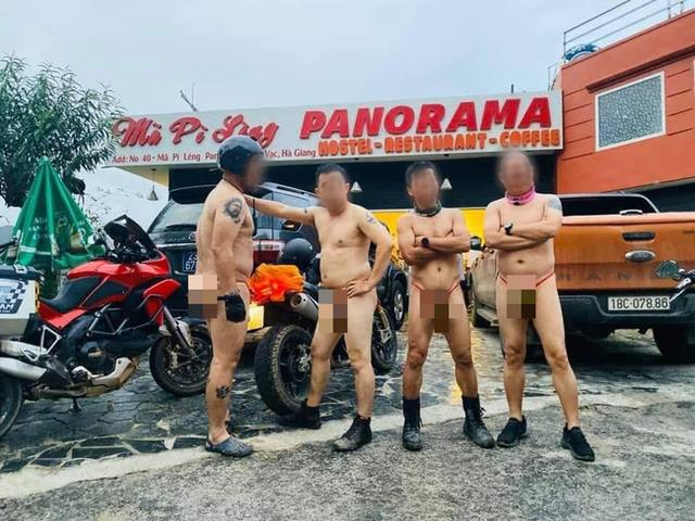 Lộ danh tính nhóm đàn ông khỏa thân, phóng xe máy tới tòa nhà 7 tầng trên Mã Pí Lèng - Ảnh 3.