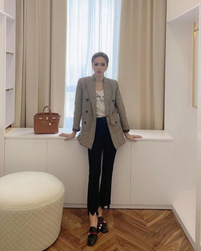 Học ngay 11 set đồ của Hoa hậu Hương Giang cách mix quần jeans từ đơn giản đến cá tính - Ảnh 7.