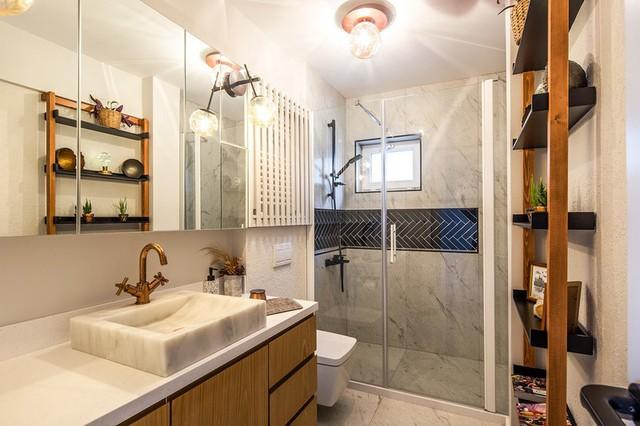 Căn hộ tầng cao có nội thất đơn giản nhưng đẹp không tì vết - Ảnh 9.