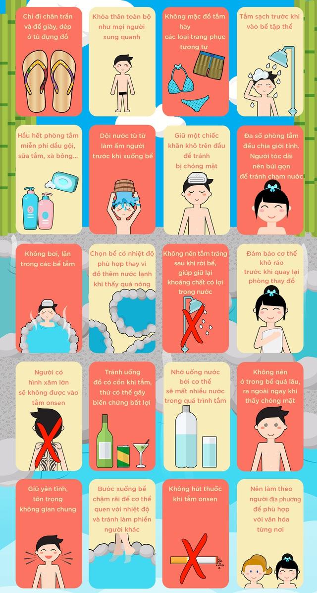 20 quy tắc cần biết khi tắm onsen - Ảnh 1.