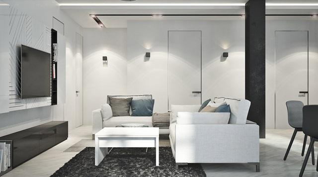 Căn hộ 2 phòng ngủ có sắc màu trung tính sang trọng đáng để học hỏi - Ảnh 2.