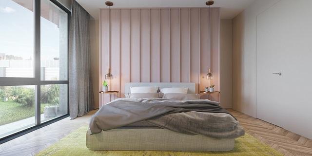 Mẫu phòng ngủ màu hồng được nhiều người ưa thích - Ảnh 1.
