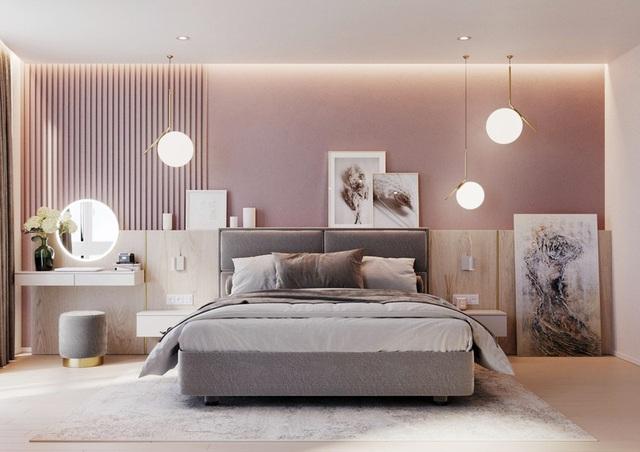 Mẫu phòng ngủ màu hồng được nhiều người ưa thích - Ảnh 2.