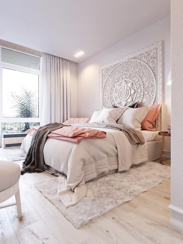 Mẫu phòng ngủ màu hồng được nhiều người ưa thích - Ảnh 12.