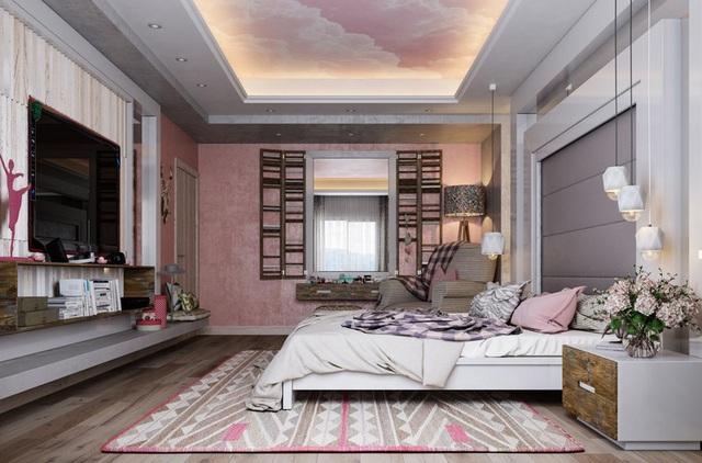 Mẫu phòng ngủ màu hồng được nhiều người ưa thích - Ảnh 13.