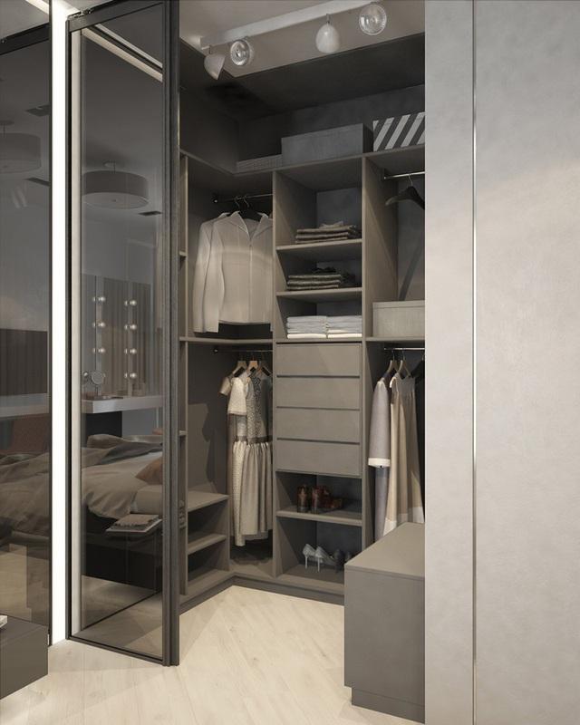Căn hộ 2 phòng ngủ có sắc màu trung tính sang trọng đáng để học hỏi - Ảnh 14.