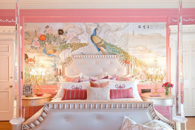 Mẫu phòng ngủ màu hồng được nhiều người ưa thích - Ảnh 14.