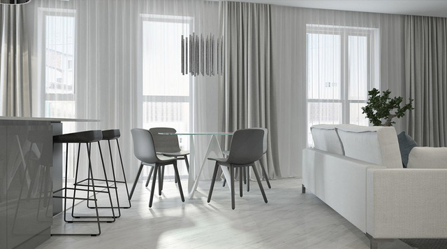 Căn hộ 2 phòng ngủ có sắc màu trung tính sang trọng đáng để học hỏi - Ảnh 3.