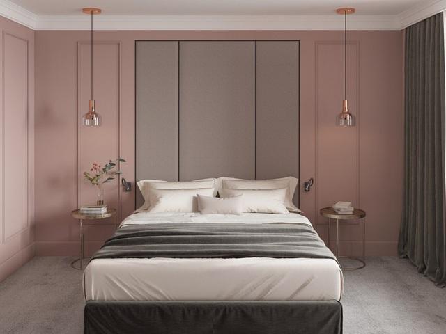 Mẫu phòng ngủ màu hồng được nhiều người ưa thích - Ảnh 3.