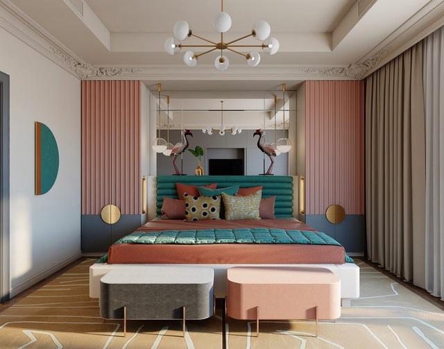 Mẫu phòng ngủ màu hồng được nhiều người ưa thích - Ảnh 4.