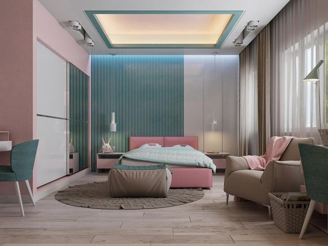 Mẫu phòng ngủ màu hồng được nhiều người ưa thích - Ảnh 5.