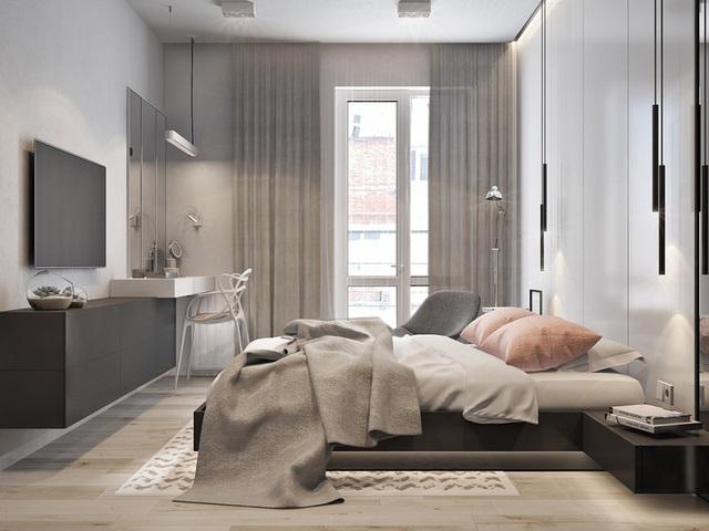 Căn hộ 2 phòng ngủ có sắc màu trung tính sang trọng đáng để học hỏi - Ảnh 6.