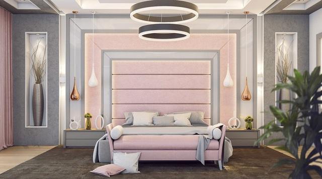 Mẫu phòng ngủ màu hồng được nhiều người ưa thích - Ảnh 6.