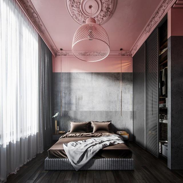 Mẫu phòng ngủ màu hồng được nhiều người ưa thích - Ảnh 8.