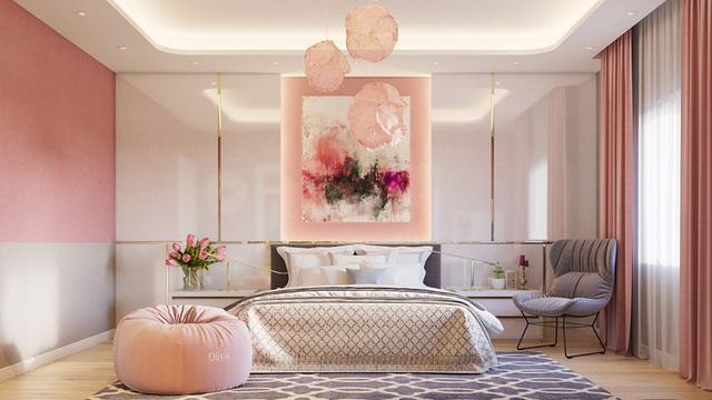 Mẫu phòng ngủ màu hồng được nhiều người ưa thích - Ảnh 10.