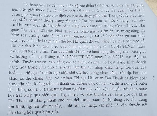 """Xâm nhập đường dây """"đánh hàng"""" ở Lạng Sơn: Bản báo cáo không trung thực của Chi cục Hải quan Tân Thanh - Ảnh 5."""