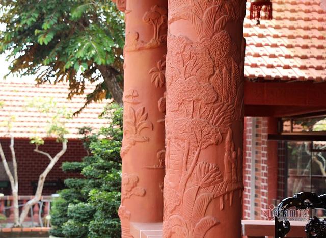 Biệt phủ bằng gốm đỏ có 1 không 2 Việt Nam của đại gia miền Tây - Ảnh 13.
