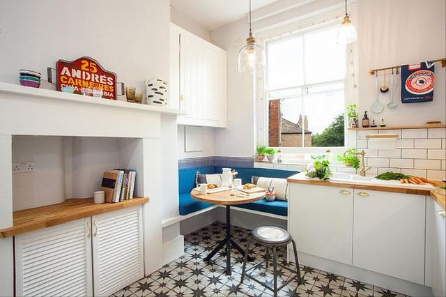 9 nhà bếp nhỏ vẫn có góc ăn đáng yêu, xinh xắn nhờ cách thiết kế thông minh - Ảnh 3.