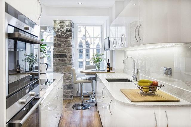 9 nhà bếp nhỏ vẫn có góc ăn đáng yêu, xinh xắn nhờ cách thiết kế thông minh - Ảnh 4.