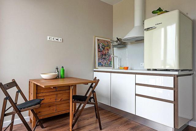 9 nhà bếp nhỏ vẫn có góc ăn đáng yêu, xinh xắn nhờ cách thiết kế thông minh - Ảnh 6.