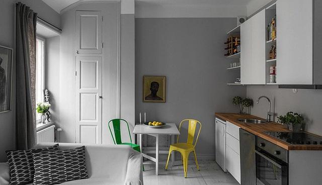 9 nhà bếp nhỏ vẫn có góc ăn đáng yêu, xinh xắn nhờ cách thiết kế thông minh - Ảnh 7.