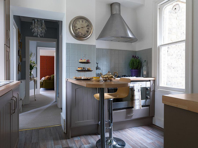 9 nhà bếp nhỏ vẫn có góc ăn đáng yêu, xinh xắn nhờ cách thiết kế thông minh - Ảnh 8.