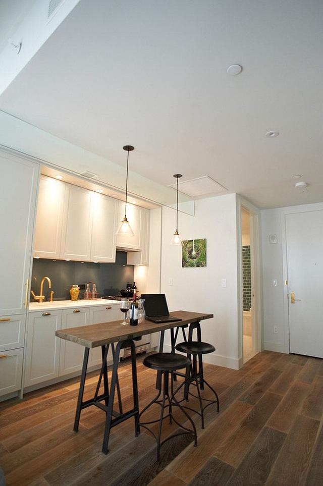 9 nhà bếp nhỏ vẫn có góc ăn đáng yêu, xinh xắn nhờ cách thiết kế thông minh - Ảnh 9.