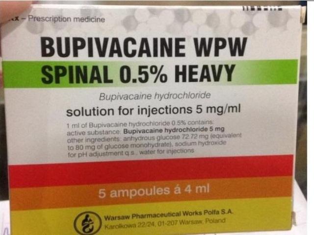 Ngừng sử dụng thuốc gây tê tủy sống Bupivacain