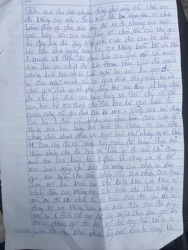 Tìm thấy thi thể nữ sinh để lại thư tuyệt mệnh nhảy cầu tự tử - Ảnh 2.