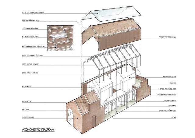 Lạ lẫm nhưng vô cùng bắt mắt với ngôi nhà ngói 3 gian xếp dọc theo mảnh đất hình ống rộng gần 300m² ở Trà Vinh - Ảnh 21.