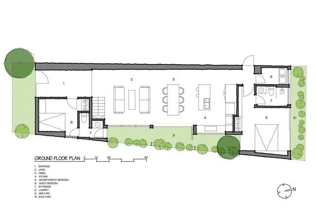 Lạ lẫm nhưng vô cùng bắt mắt với ngôi nhà ngói 3 gian xếp dọc theo mảnh đất hình ống rộng gần 300m² ở Trà Vinh - Ảnh 25.