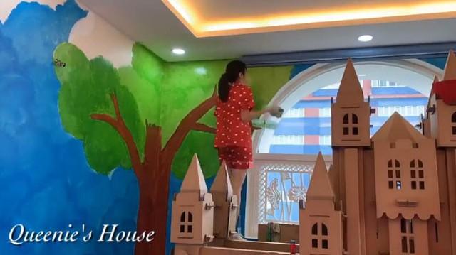 Diễn viên Vân Trang tự tay biến phòng con gái thành một căn phòng như bước ra từ truyện cổ tích mà bất cứ bố mẹ nào cũng phải ngưỡng mộ - Ảnh 11.