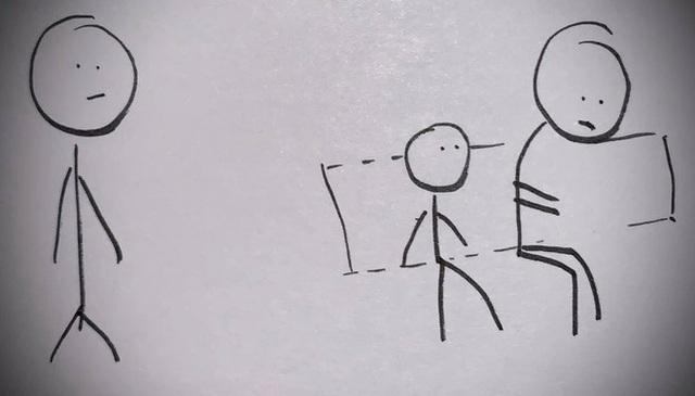Bố vẽ tranh dạy con tôn trọng người lao động - Ảnh 6.