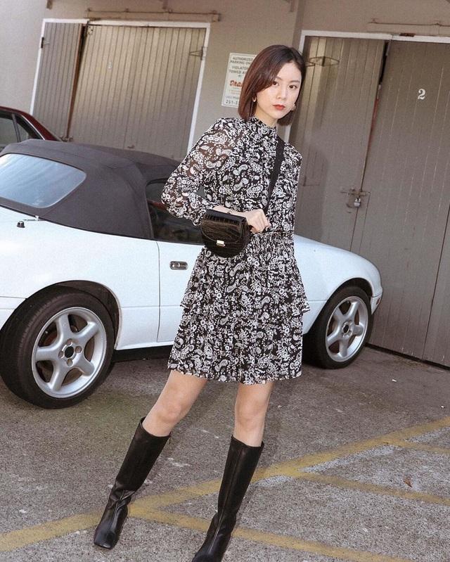 Công thức váy + boots đã thuộc hàng kinh điển, bạn không nên lơ là 3 cách diện chuẩn xinh và tôn dáng sau - Ảnh 11.