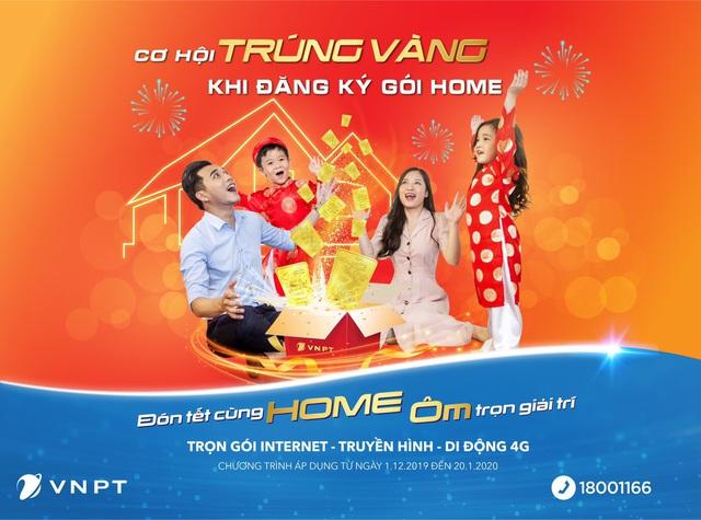 Trúng ngay vàng SJC 9999 khi đăng ký Internet, truyền hình VNPT dịp Tết - Ảnh 1.