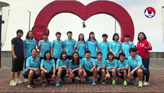 Các cô gái vàng của bóng đá nữ gửi lời chúc tiếp lửa cho các cầu thủ U22 Việt Nam - Ảnh 2.