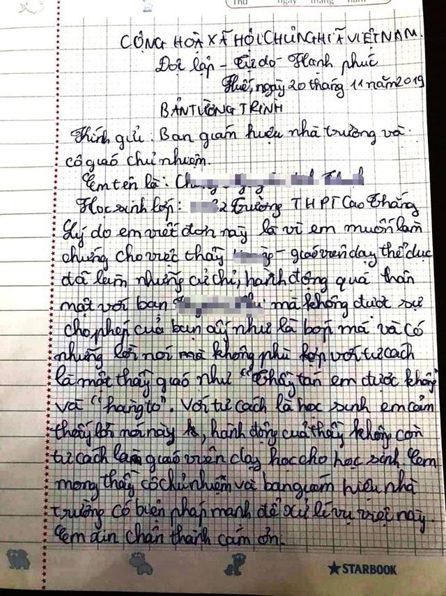 Diễn biến bất ngờ vụ thầy giáo bị tố nói thầy tán em được không với nữ sinh - Ảnh 2.