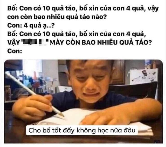 Bị bố quát vì làm mãi vẫn sai bài toán, cậu bé khóc mếu: Cho bố tất, không học nữa! - Ảnh 6.