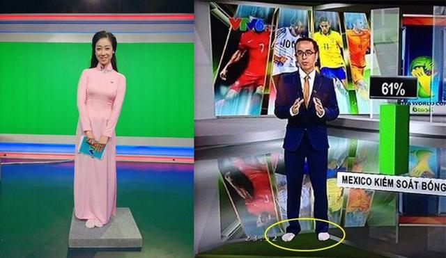 Biên tập viên Hữu Bằng lộ ảnh đi chân đất trên sóng truyền hình - Ảnh 2.